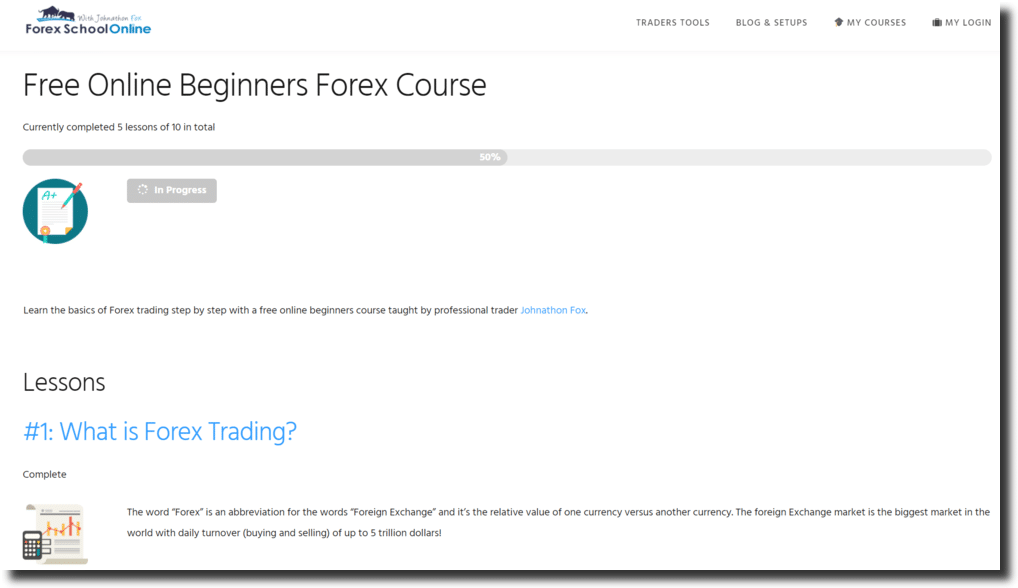 The Forex School Online Free 10 X Part Intro To Course Is For Traders Who Need All Base Understanding Of What Markets Are Charts They